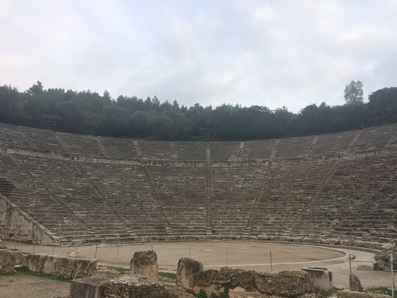 the acropolis of Mycenae and the ancient theatre of Epidaurus